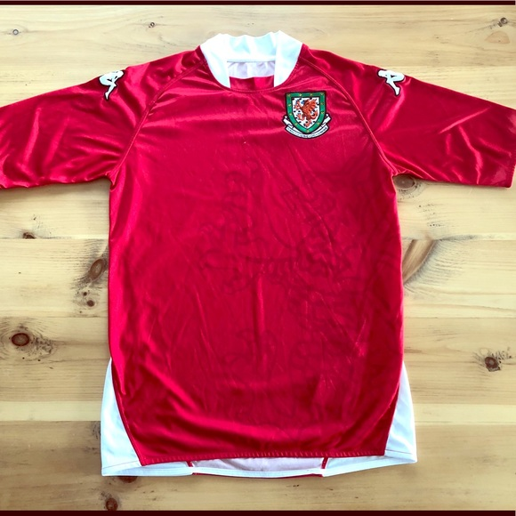 Vintage Wales 2008 Kappa soccer jersey shirt